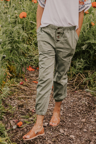 Green Joggers for Women | ROOLEE