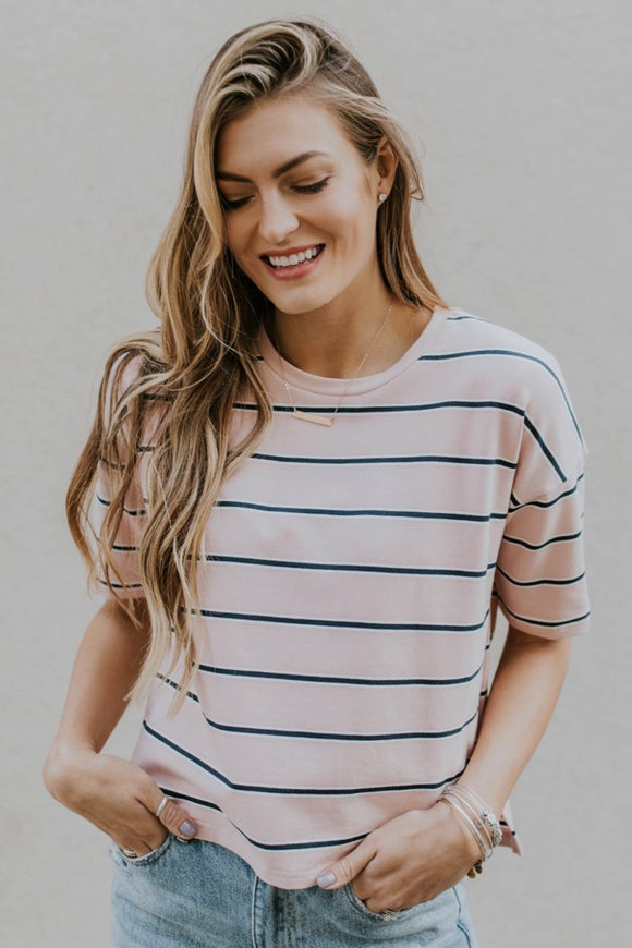Stripe Layering Tee For Fall | ROOLEE