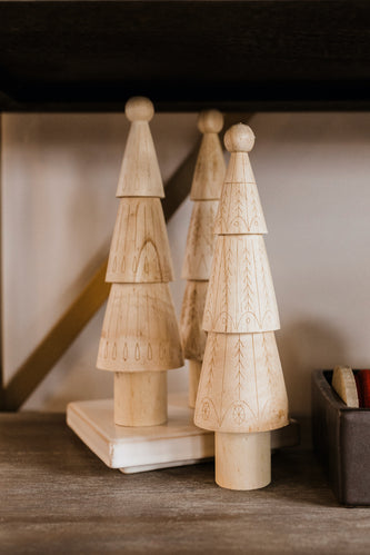 Sherri Patterned Wood Tree
