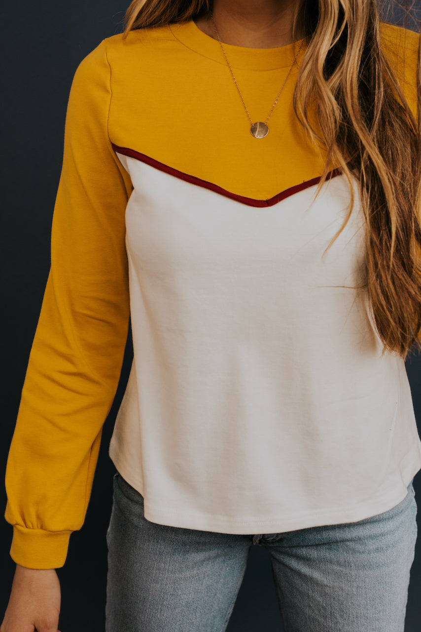 Colorblock Long Sleeve Tee | ROOLEE