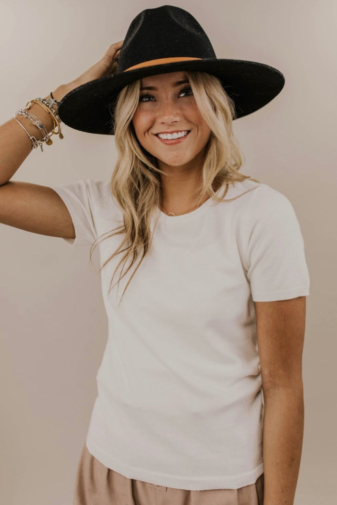 Soft Knit Top Outfit Idea | ROOLEE