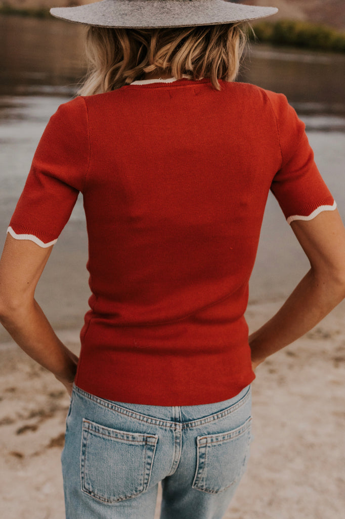 Red Knitted Top | ROOLEE