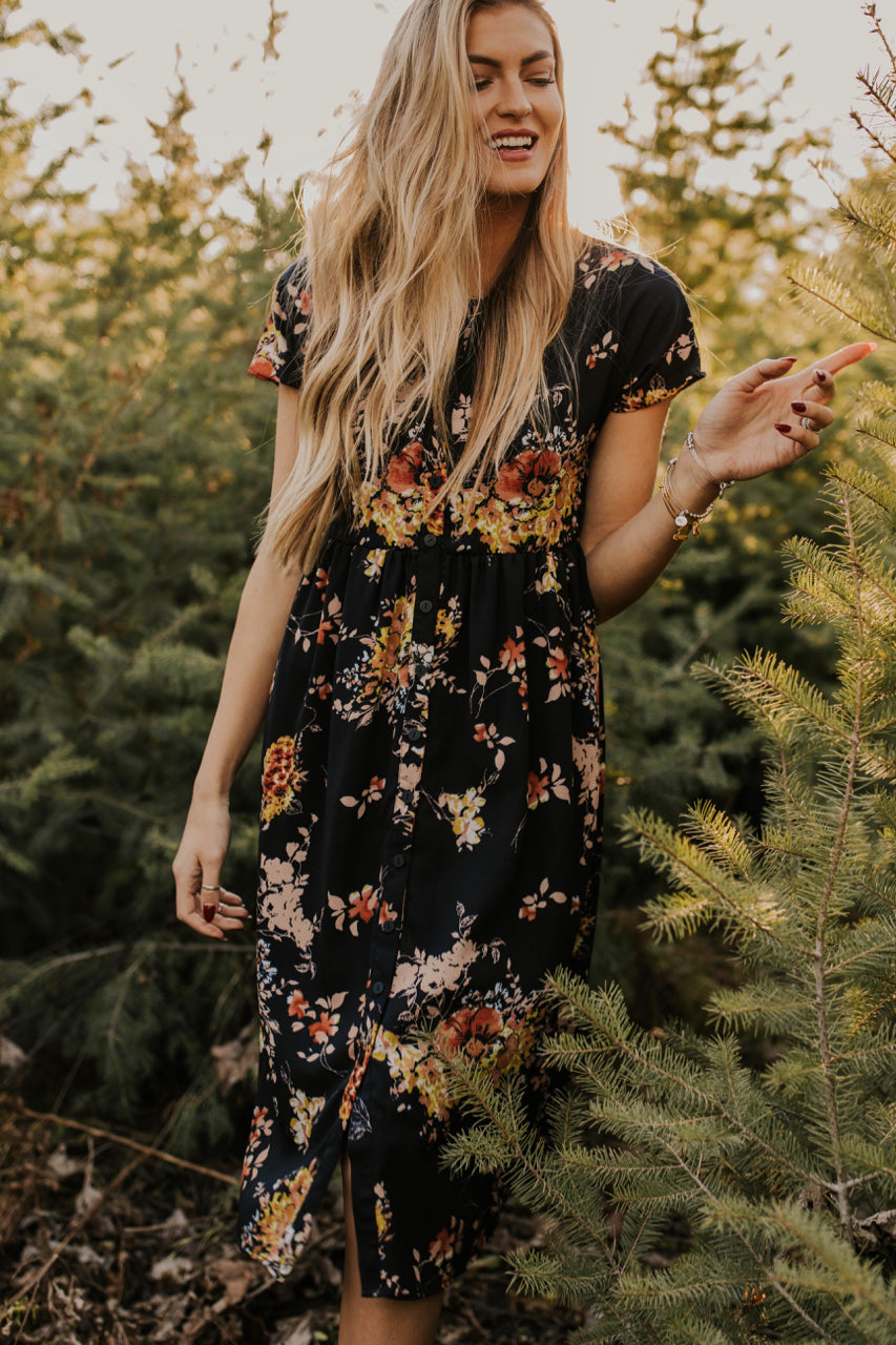 Elegant Floral Dress | ROOLEE