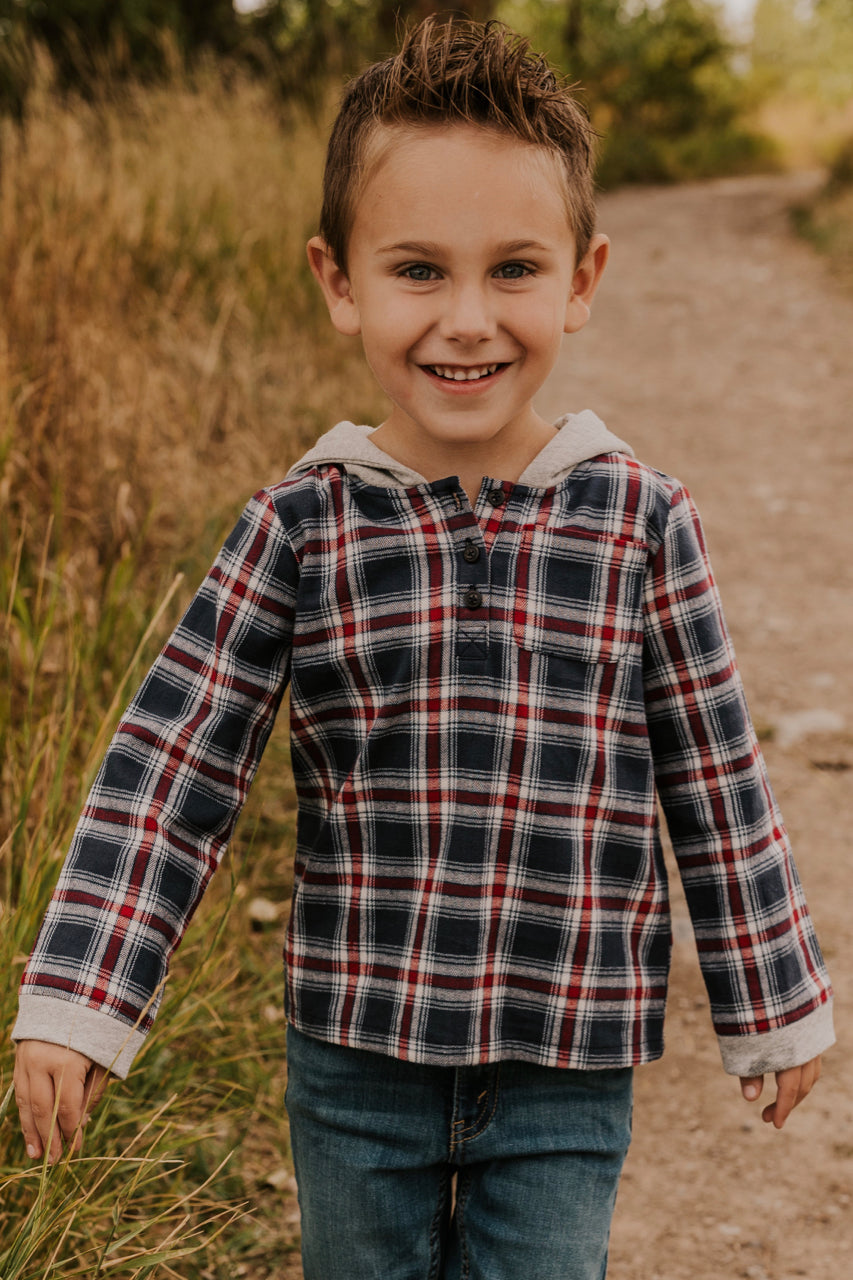 Flannel Sweatshirt for Boys | ROOLEE