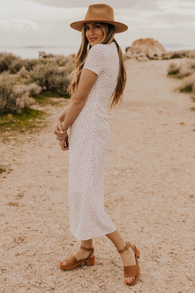 Spotted Nursing Friendly Midi | ROOLEE