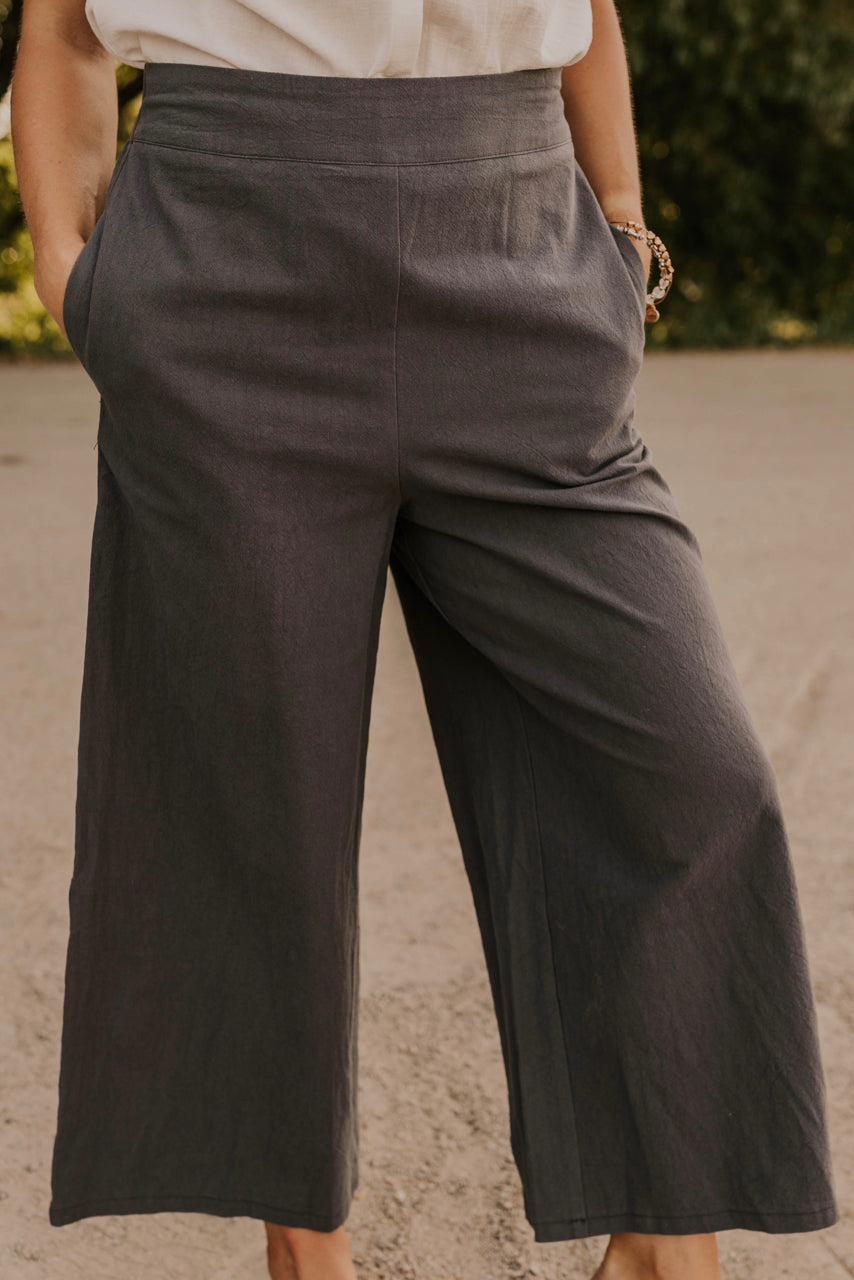 Wide Leg Casual Pants | ROOLEE