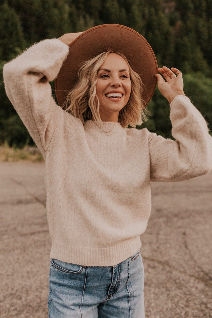Cream Knit Fall Sweater | ROOLEE
