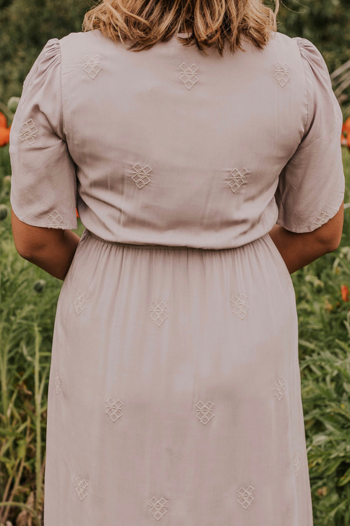 Women's Embroidered Maxi Bridesmaid Dress | ROOLEE