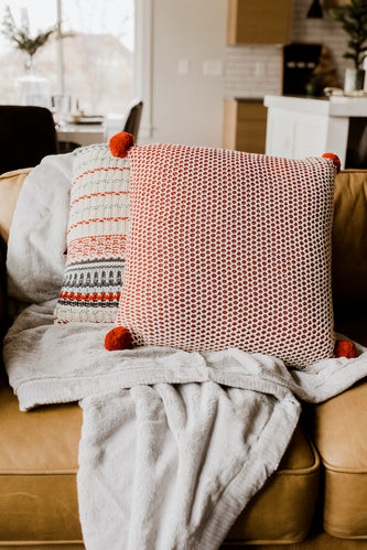 Packard Square Knit Pillow