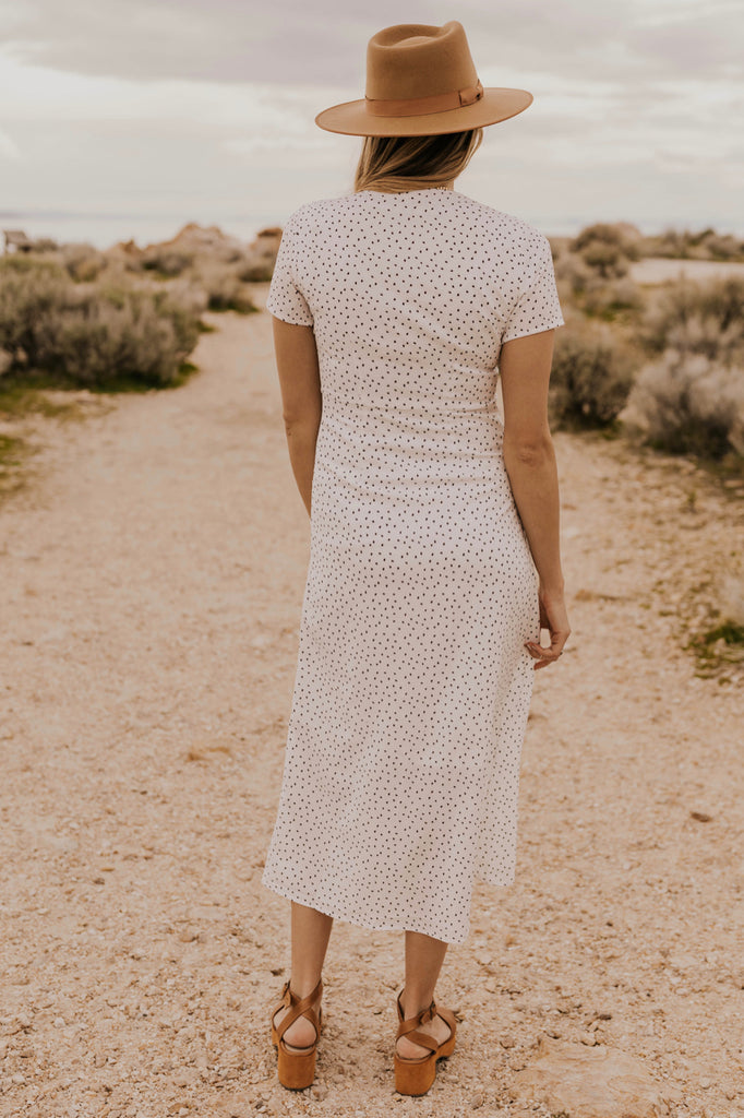 White Nursing Friendly Dress | ROOLEE