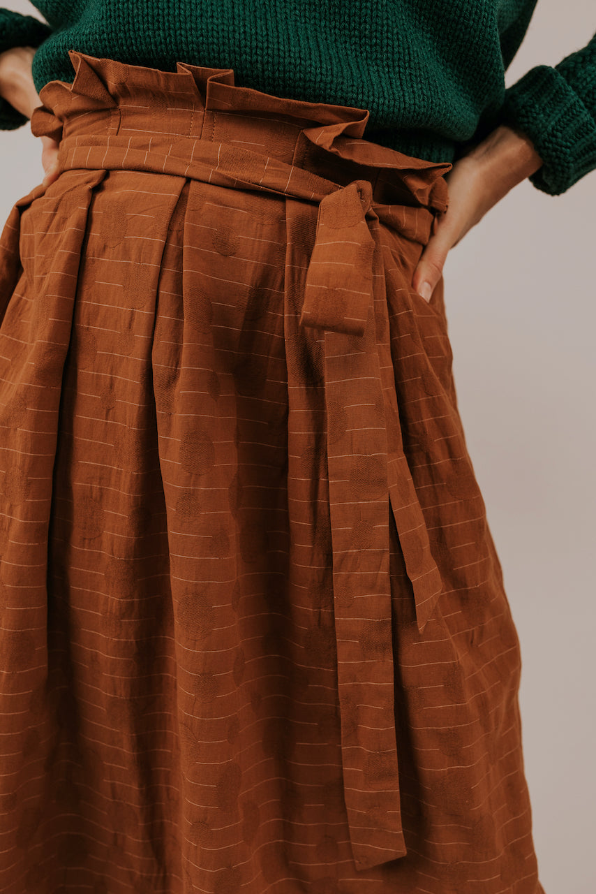 Patterned Midi Skirt | ROOLEE