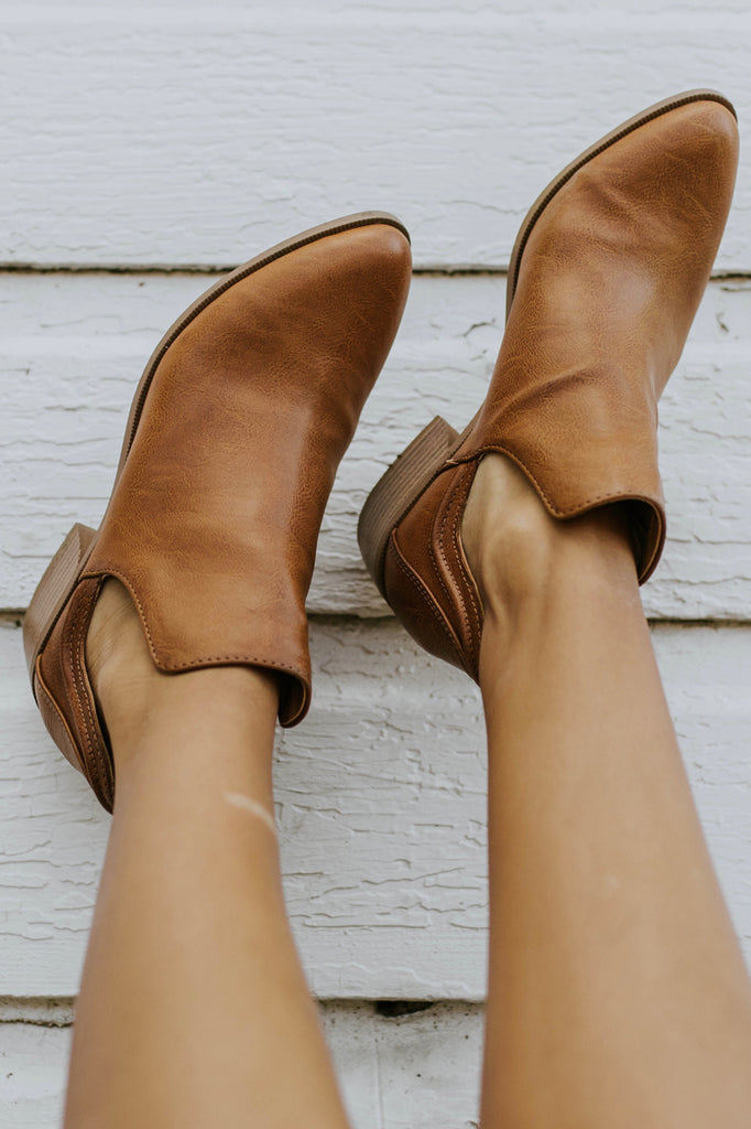 Faux Leather Booties | ROOLEE