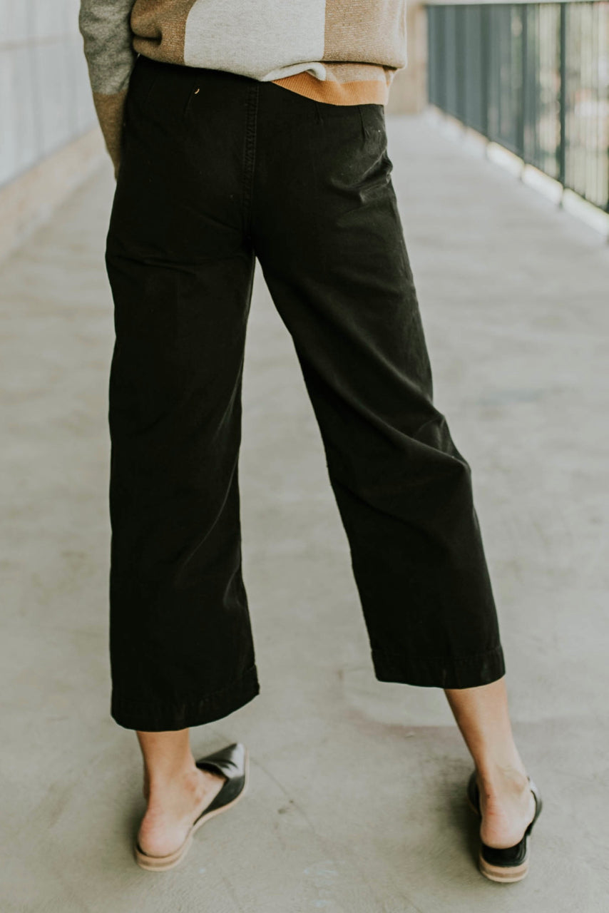 Black Cotton Pants | ROOLEE