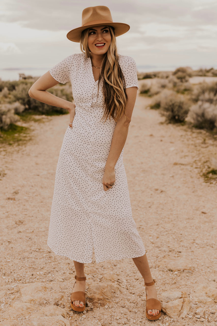 White Midi Dress | ROOLEE