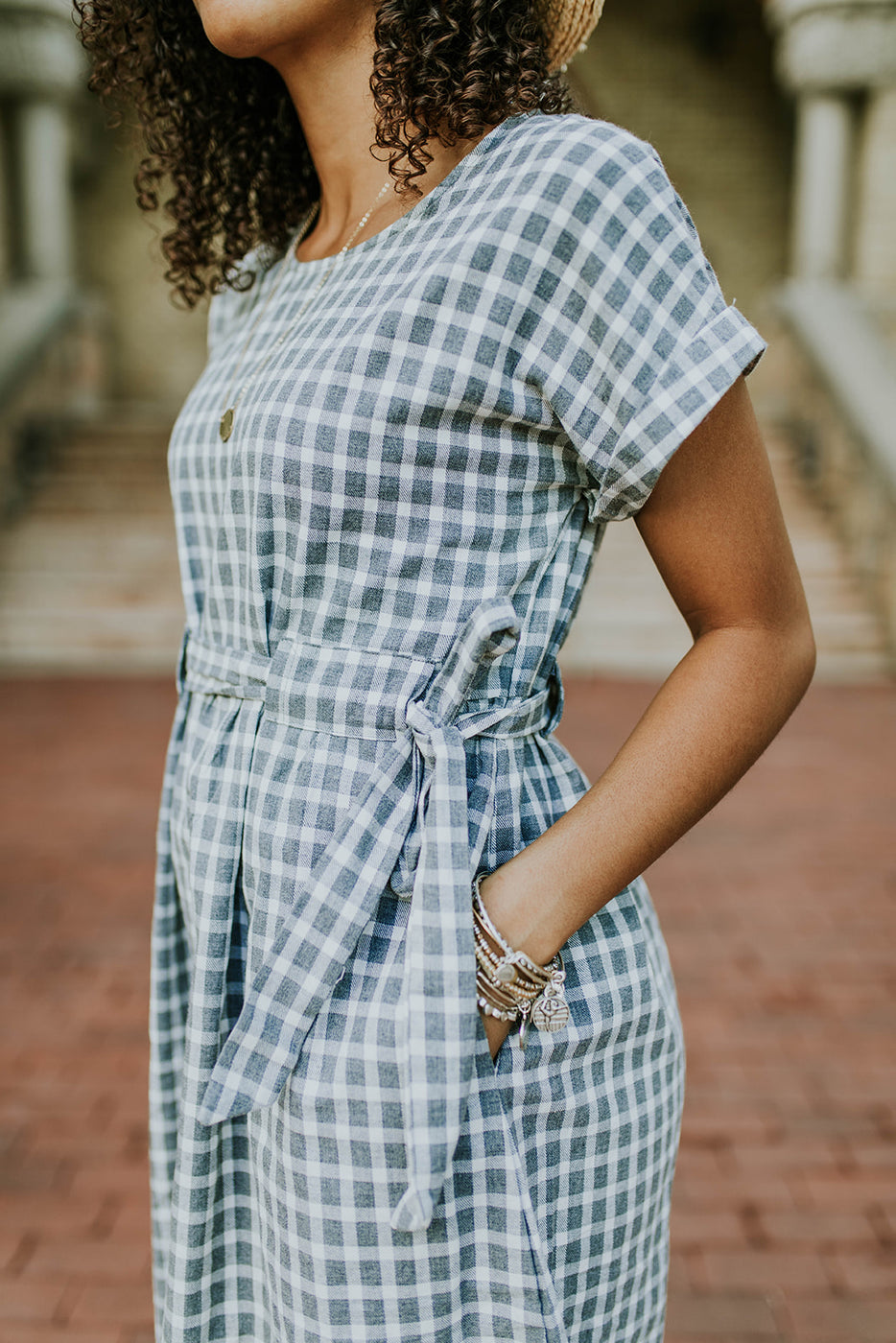 Short Sleeve Dress With Pockets For Women | ROOLEE