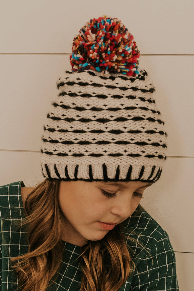 Knitted Pom Beanie | ROOLEE