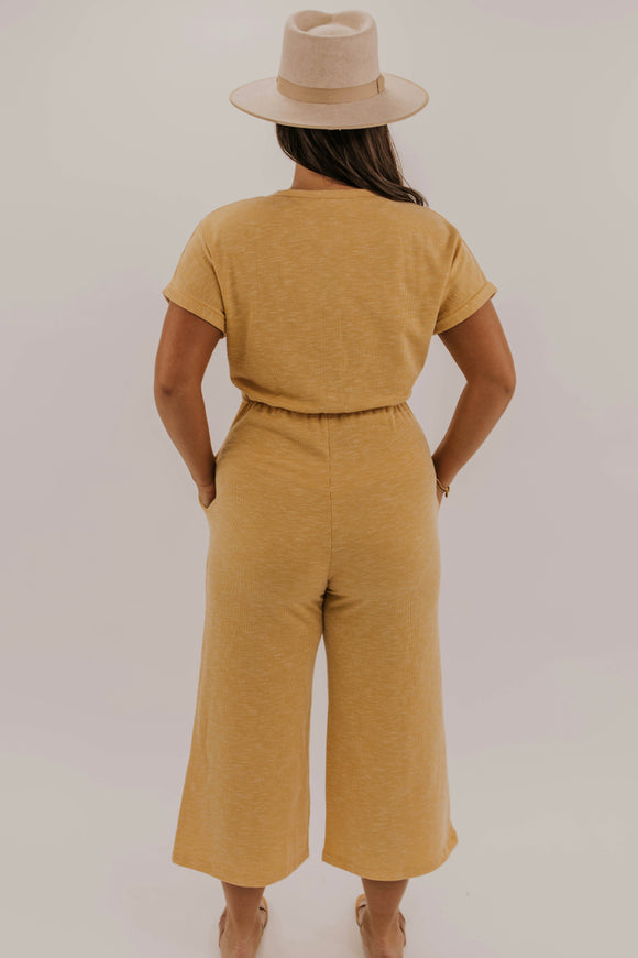 Wide Leg Button Jumpsuit | ROOLEE
