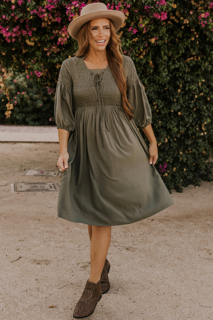 Olive Smock Dress | ROOLEE