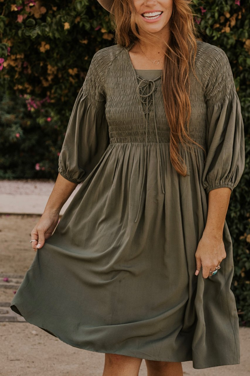 Lace Up Dress | ROOLEE