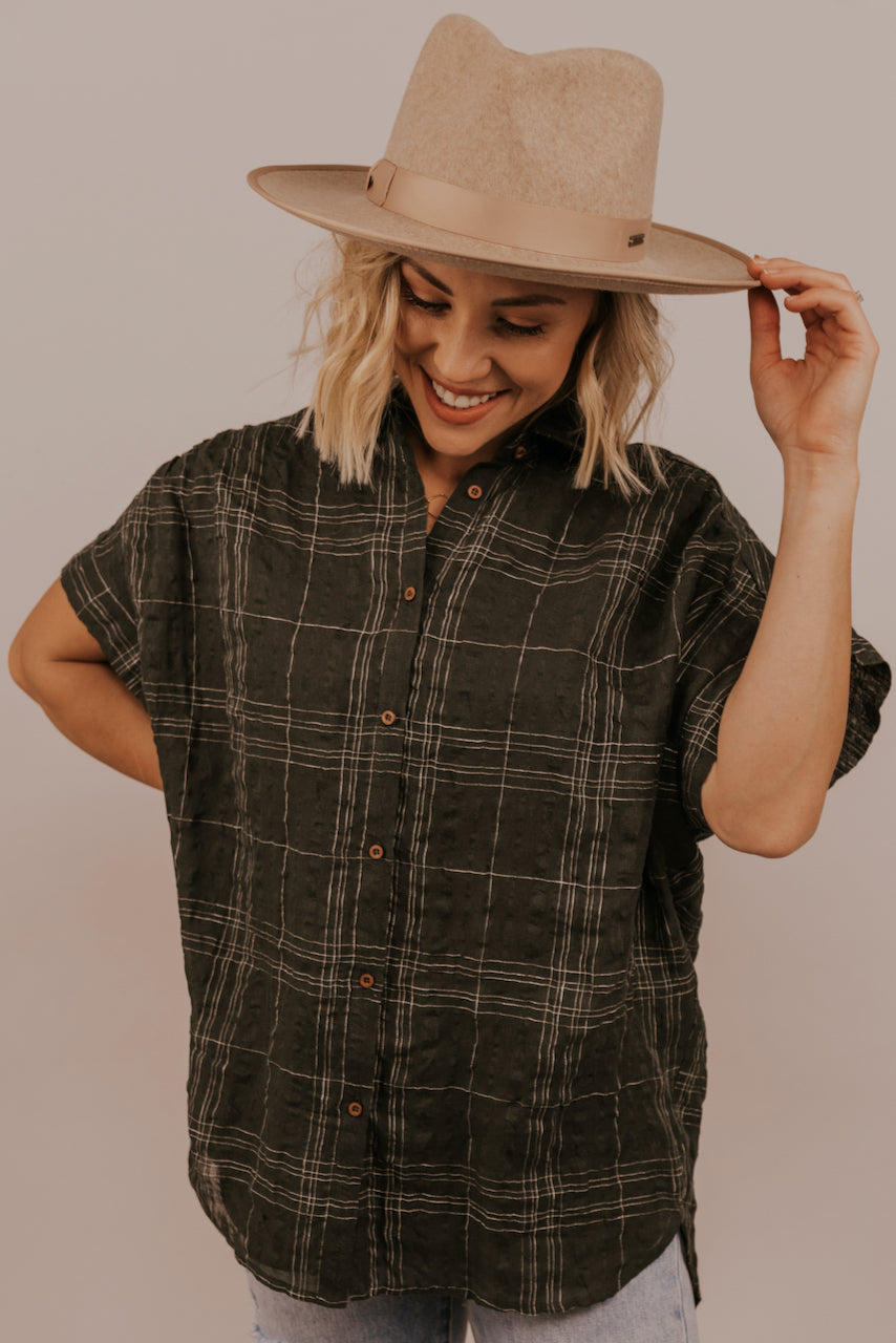 Green Womens Button Up Blouses | ROOLEE