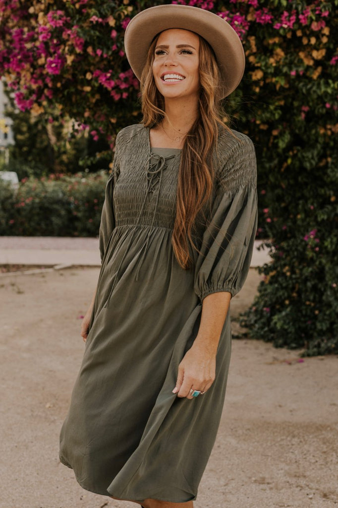 Olive Green Dress | ROOLEE