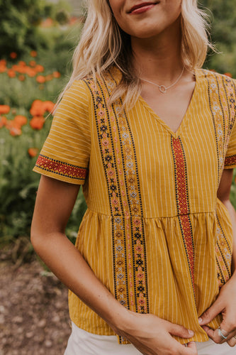 Cute Embroidered Babydoll Top | ROOLEE
