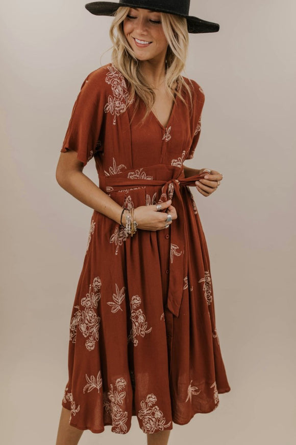 Shelly Embroidered Dress | ROOLEE