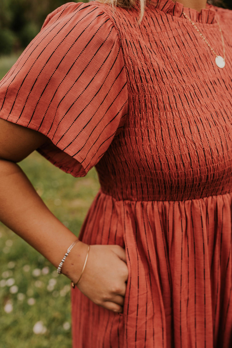 Women's Striped Red Maxi | ROOLEE