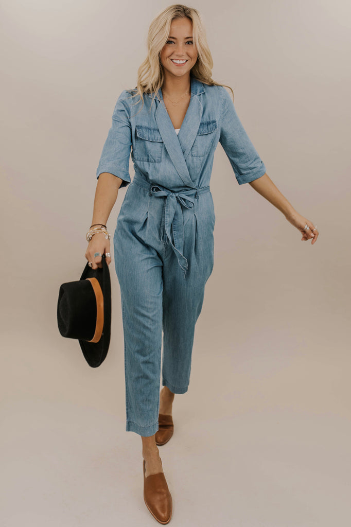 Detail Denim Jumpsuit Outfit Ideas | ROOLEE