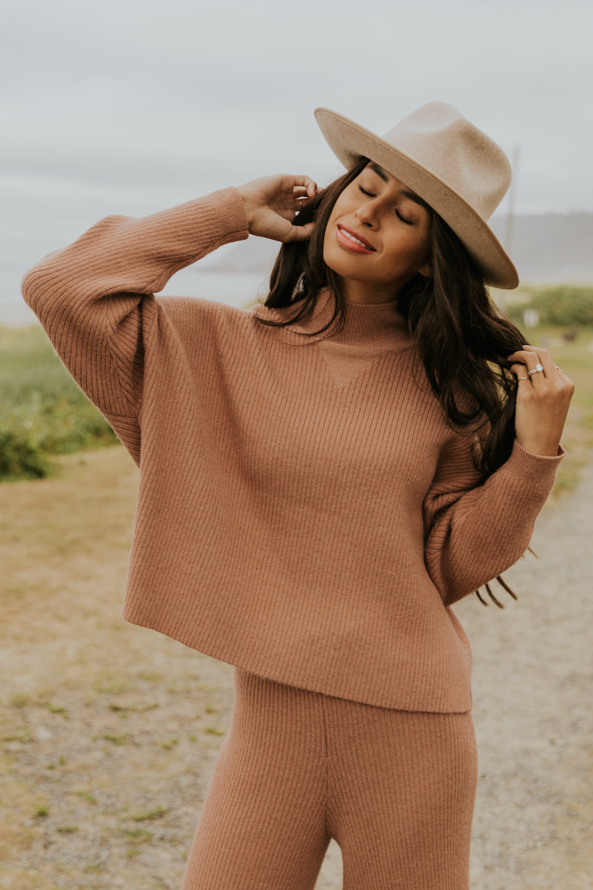 Mauve knit sweater | ROOLEE