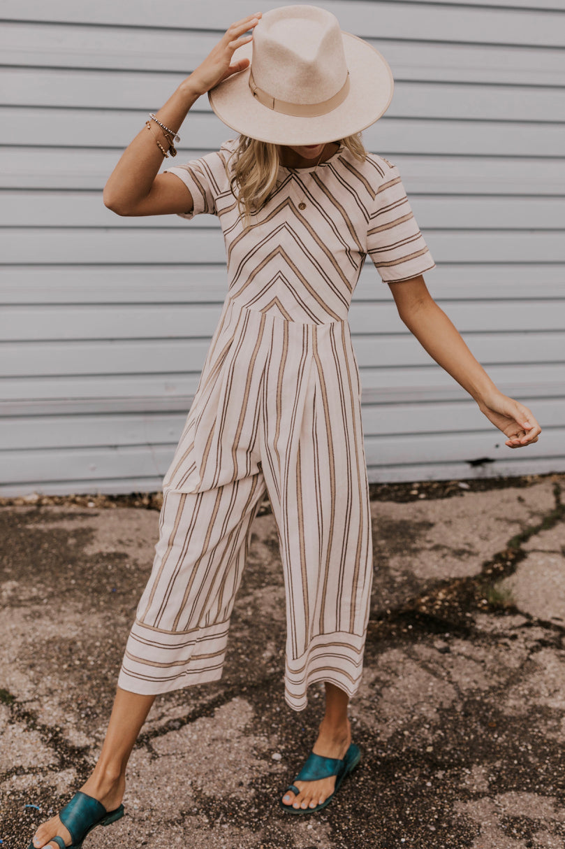 Women's Striped Jumpsuit | ROOLEE