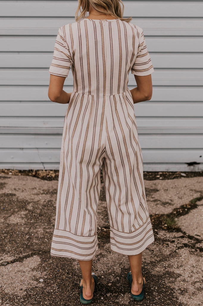 Women's Summer Stripe Jumpsuit | ROOLEE