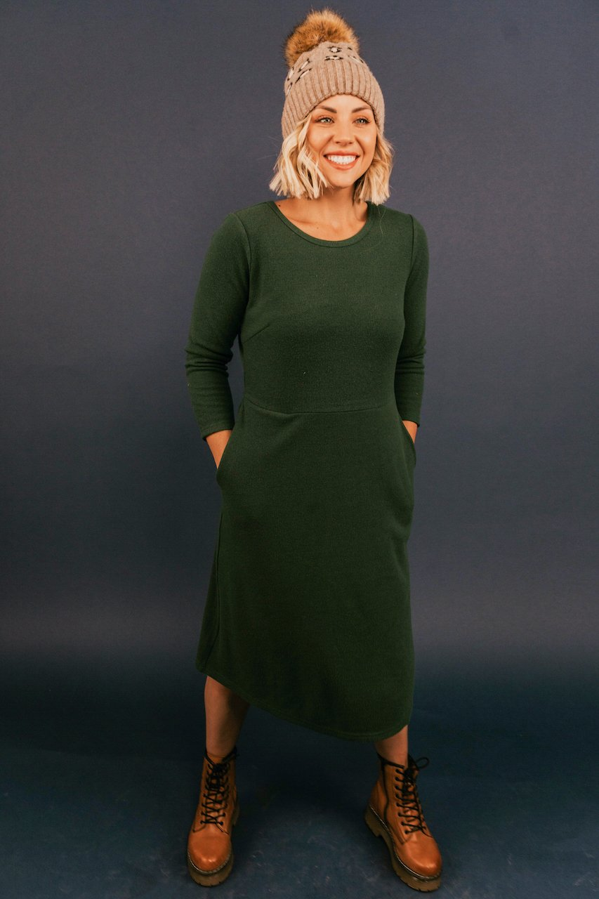 Green Dresses for Nursing Moms | ROOLEE