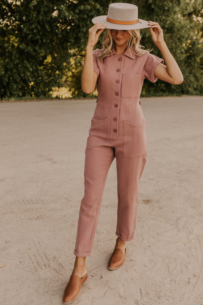 Pink Jumpsuit Outfit | ROOLEE
