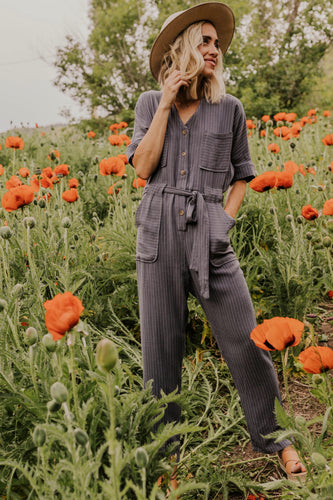 Cute Striped Jumpsuit for Women | ROOLEE