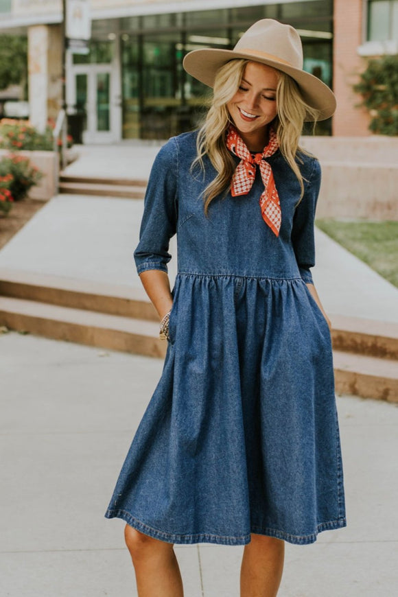 Raleigh Denim Dress | ROOLEE