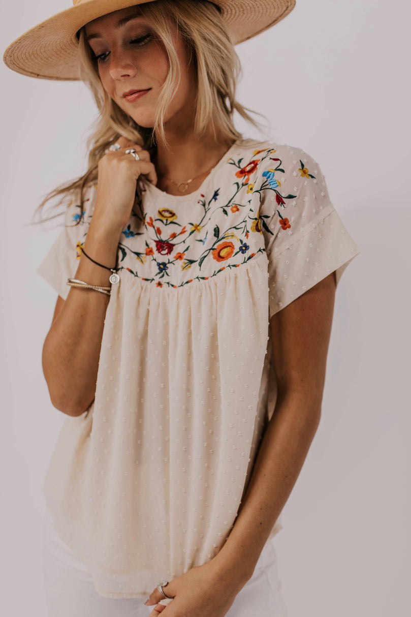 embroidered Women's Top | ROOLEE