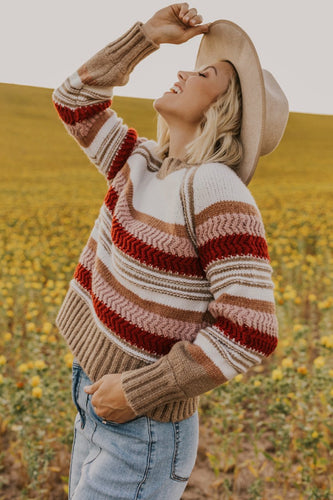 Stripe Knitted Sweater | ROOLEE