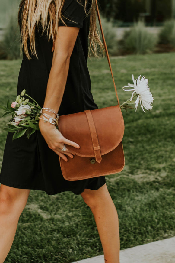 Brown Leather Saddle Bag | ROOLEE
