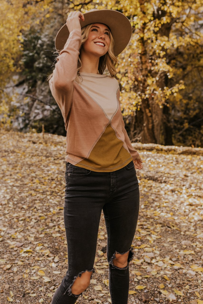 Geometric Neutral Fall Tops | ROOLEE