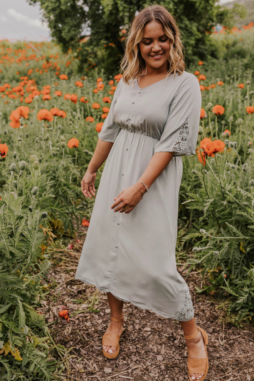 Dusty Blue Dress | ROOLEE