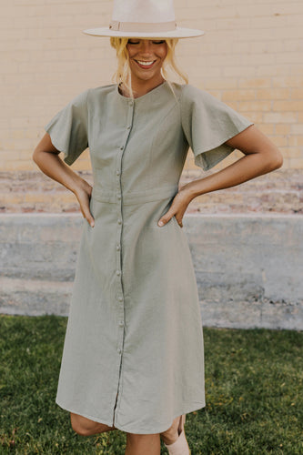 Nursing Friendly Button Dress | ROOLEE