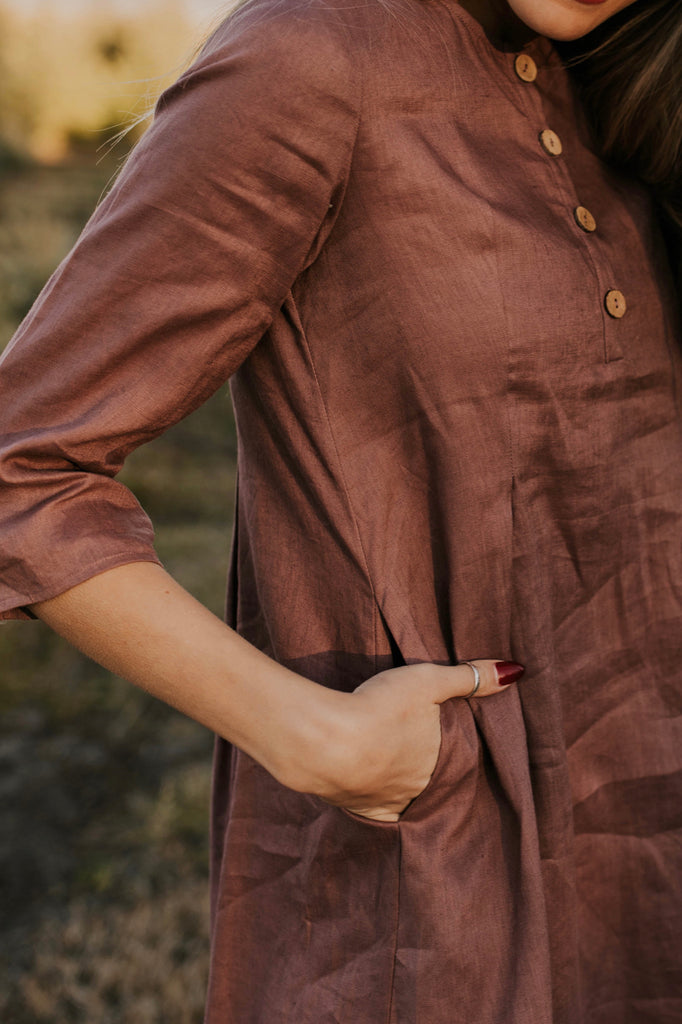 Button Dress for Spring and Fall | ROOLEE