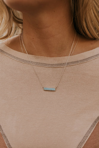 Pura Vida Turquoise Bar Necklace