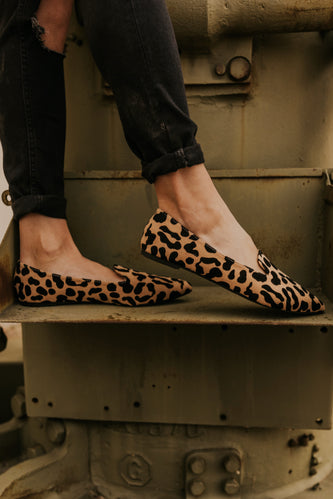 Leopard Close Toe Flat | ROOLEE