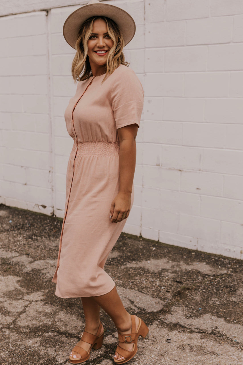 Detailed Button Nursing Friendly Dress | ROOLEE