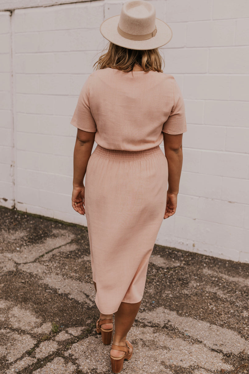 Cinch Waist Nursing Friendly Dress | ROOLEE