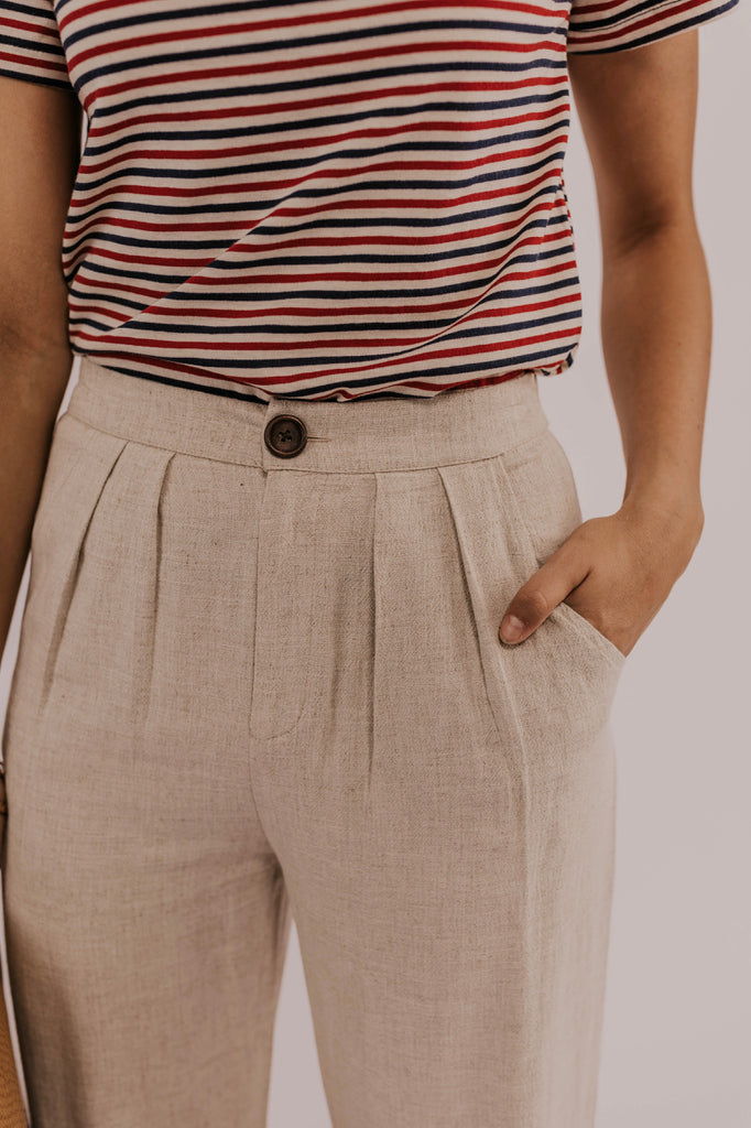 Pleated Linen Pants | ROOLEE