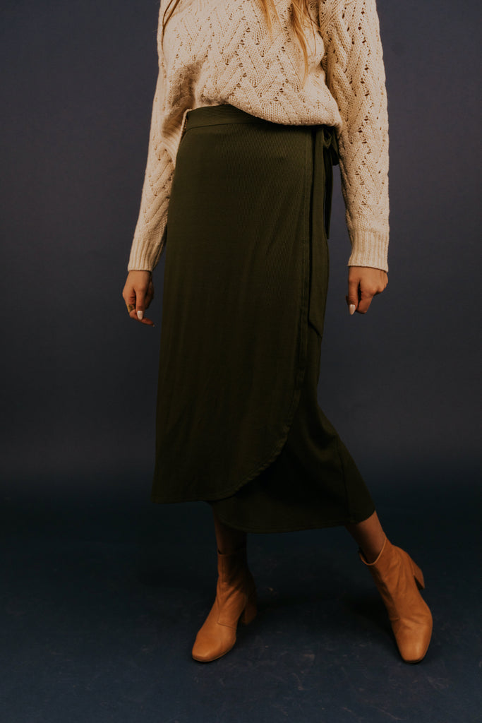 Green Midi Skirts for Spring | ROOLEE