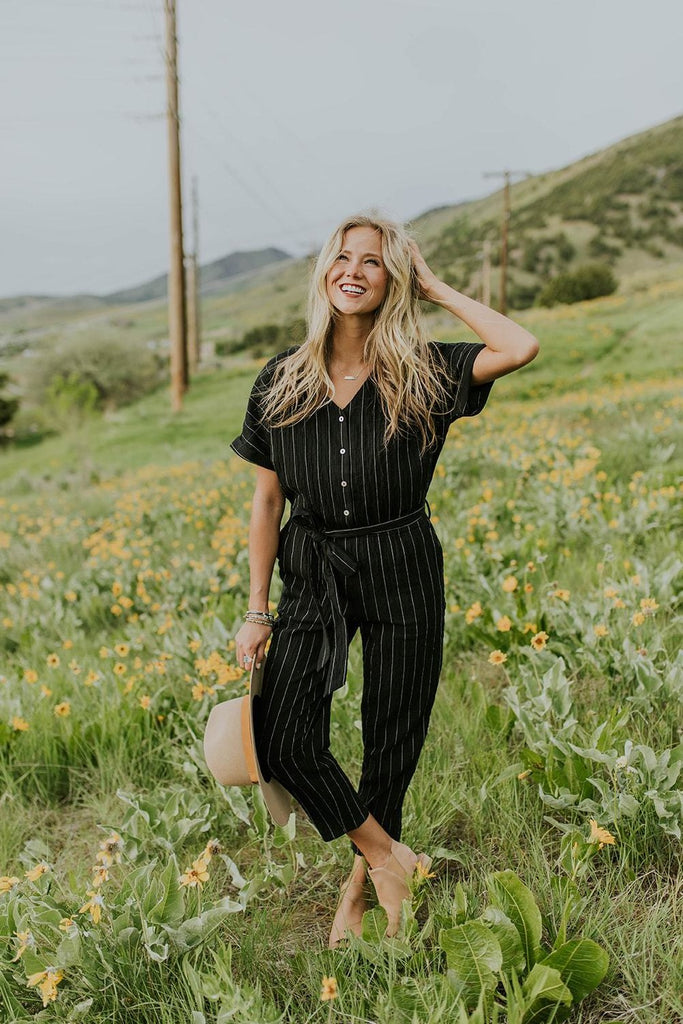Bursell Stripe Jumpsuit | ROOLEE